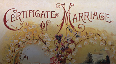 Vintage Marriage Certificates Art Prints